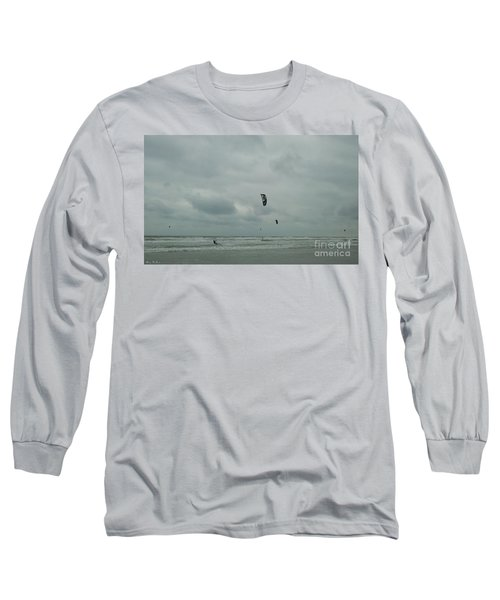 Long Sleeve T-Shirt featuring the photograph Surfing The Wind by Donna Brown