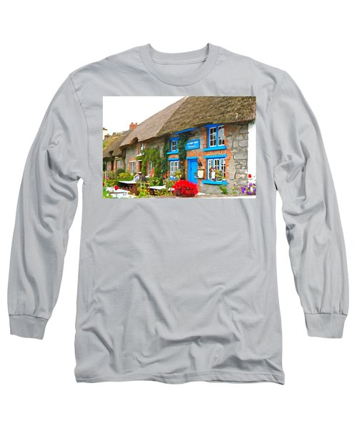 Long Sleeve T-Shirt featuring the photograph The Blue Door by Charlie and Norma Brock