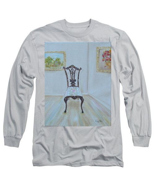 Long Sleeve T-Shirt featuring the painting The Chair by Judith Rhue