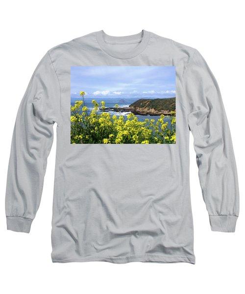 Through Yellow Flowers Long Sleeve T-Shirt