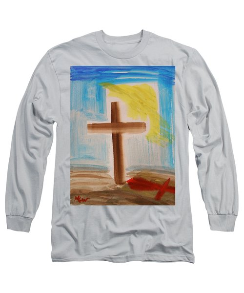 Tim Tebow's Cross-easter Monday Long Sleeve T-Shirt