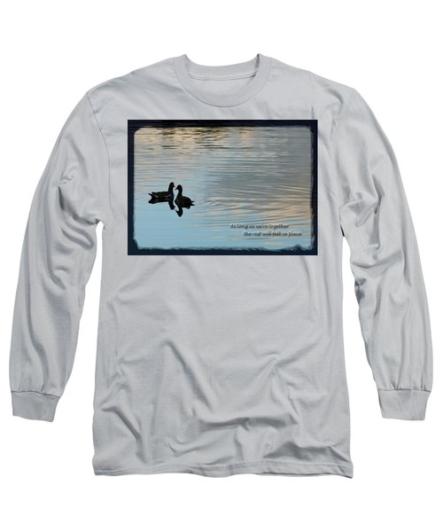 Long Sleeve T-Shirt featuring the photograph Together by Steven Sparks