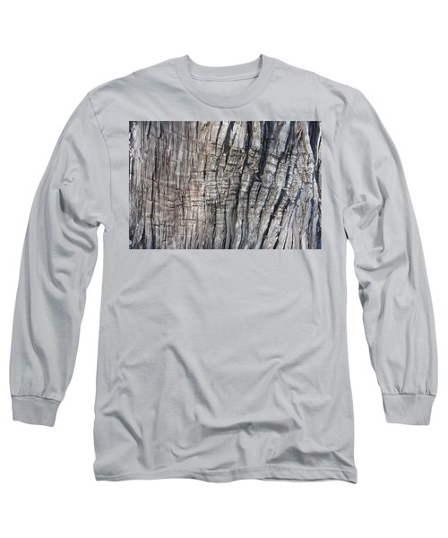 Long Sleeve T-Shirt featuring the photograph Tree Bark No. 1 Stress Lines by Lynn Palmer