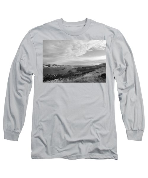 Long Sleeve T-Shirt featuring the photograph View From The Hill Columbia River by Kathleen Grace