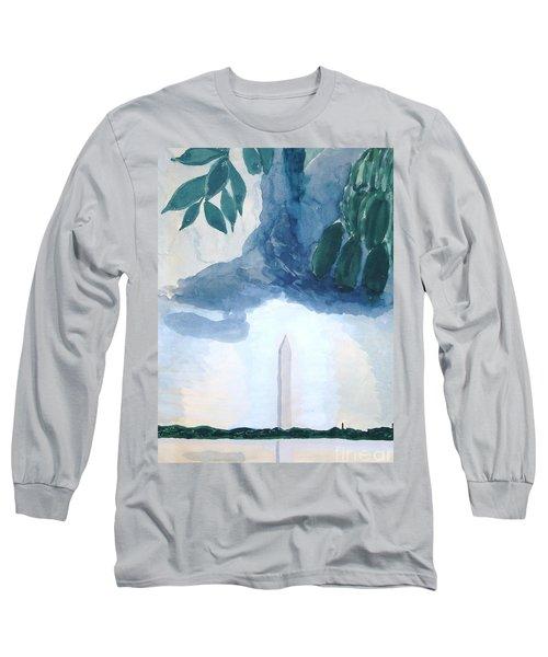 Washington Monument Long Sleeve T-Shirt by Rod Ismay
