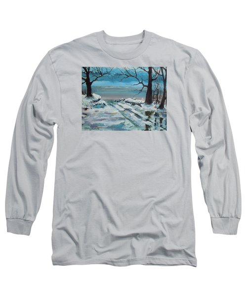 Long Sleeve T-Shirt featuring the painting Washoe Winter by Dan Whittemore