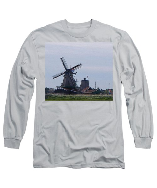 Windmill Long Sleeve T-Shirt by Manuela Constantin
