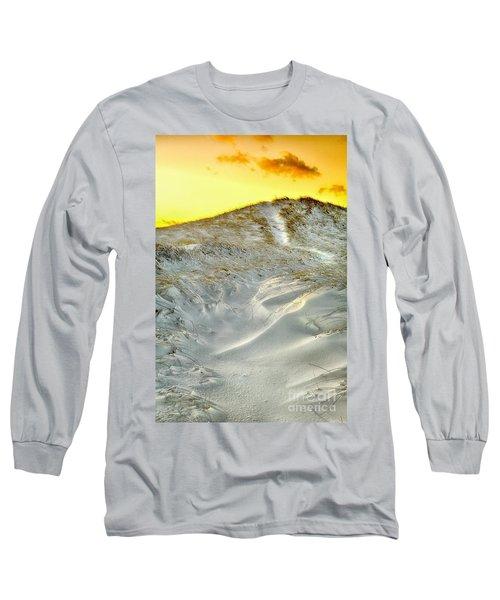 Winter Cape Cod Sunset Long Sleeve T-Shirt