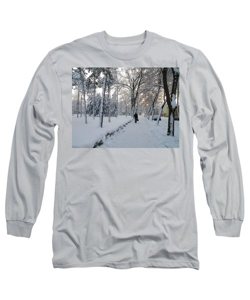 Long Sleeve T-Shirt featuring the photograph Winter In Mako by Anna Ruzsan