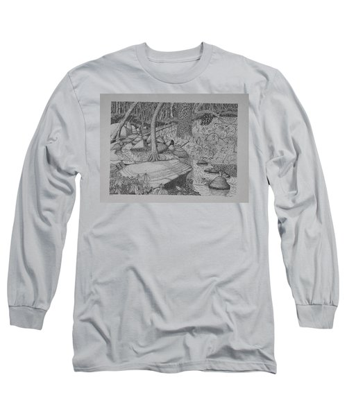 Woodland Stream Long Sleeve T-Shirt by Daniel Reed