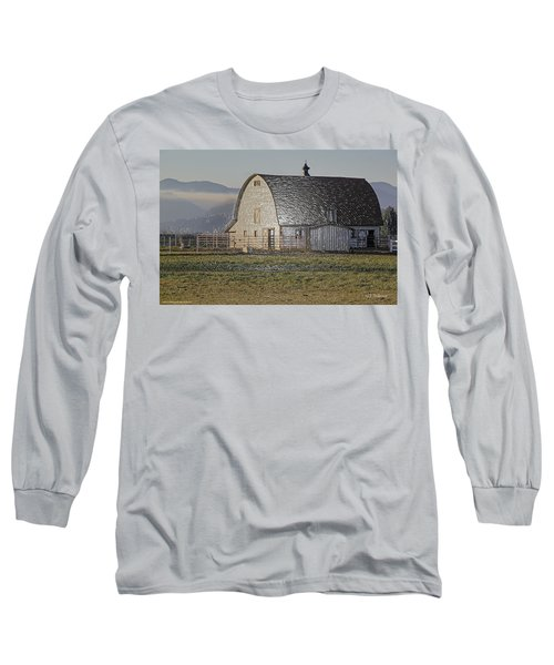 Wrapped Barn Long Sleeve T-Shirt by Mick Anderson
