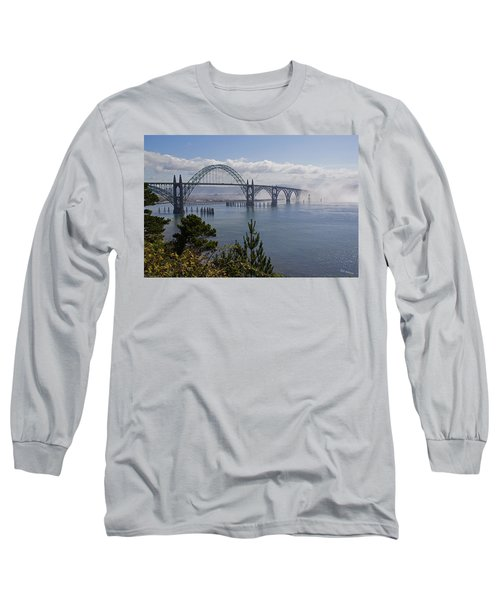Yaquina Bay Bridge Long Sleeve T-Shirt by Mick Anderson