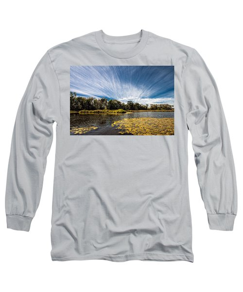 Long Sleeve T-Shirt featuring the photograph You Cannot Be Cirrus by Tom Gort