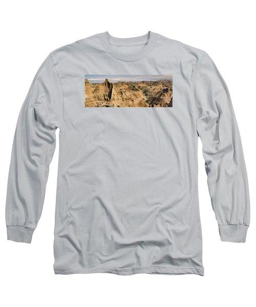 Badlands South Dakota Long Sleeve T-Shirt by John Hix