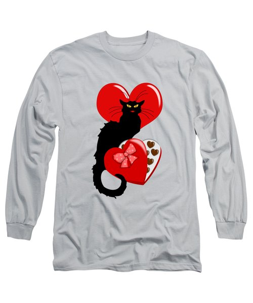 Le Chat Noir With Chocolate Candy Gift  Long Sleeve T-Shirt