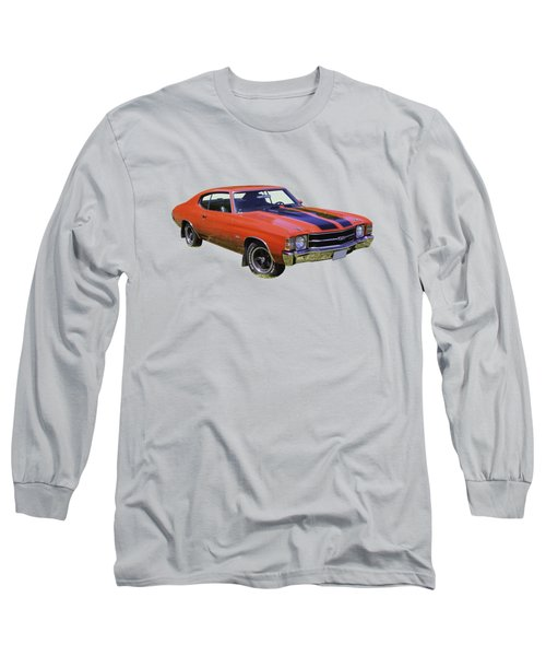Red 1971 Chevrolet Chevelle Ss Long Sleeve T-Shirt