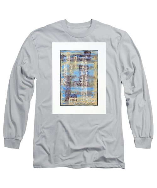 Long Sleeve T-Shirt featuring the painting 01334 Over by AnneKarin Glass