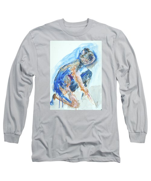 Long Sleeve T-Shirt featuring the painting 04955 Gardener by AnneKarin Glass