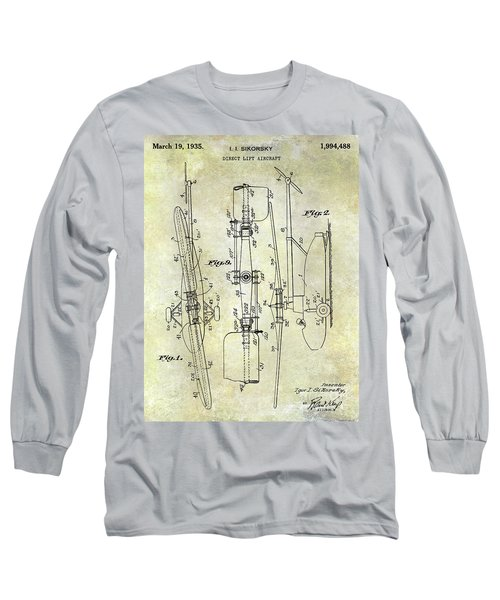 1935 Helicopter Patent  Long Sleeve T-Shirt