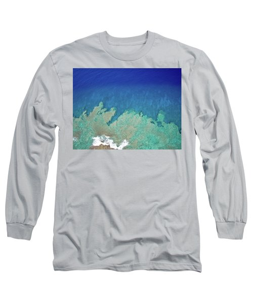Abstract Aerial Reef Long Sleeve T-Shirt