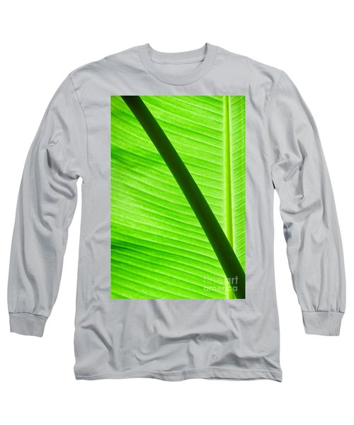 Abstract Banana Leaf Long Sleeve T-Shirt by Yurix Sardinelly