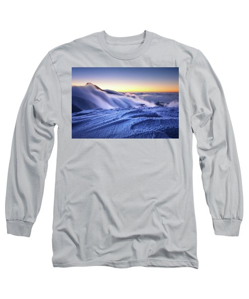 Amazing Foggy Sunset At Mountain Peak In Mala Fatra, Slovakia Long Sleeve T-Shirt