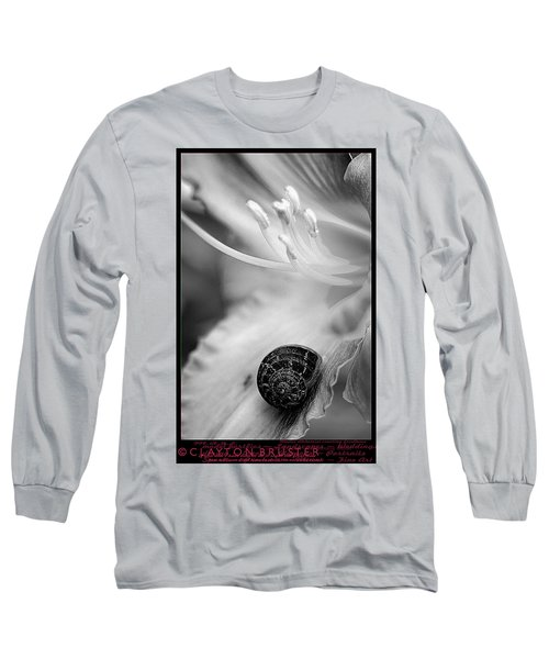 B And White Floral With Snail Long Sleeve T-Shirt