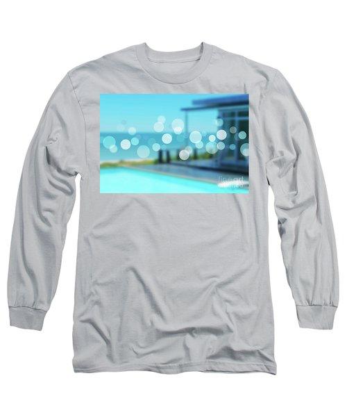 Long Sleeve T-Shirt featuring the photograph Beach Resort Concept by Atiketta Sangasaeng