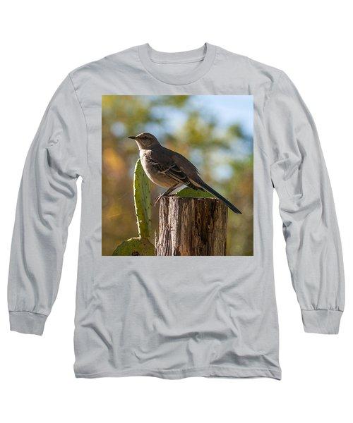 Bird On A Post Long Sleeve T-Shirt
