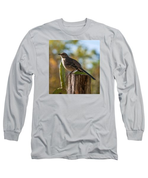 Bird On A Post Long Sleeve T-Shirt