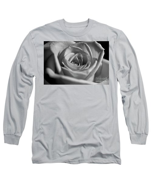 Long Sleeve T-Shirt featuring the photograph Black And White Rose by Micah May