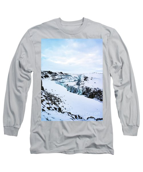 Cold Winter Day At Gullfoss, Iceland Long Sleeve T-Shirt