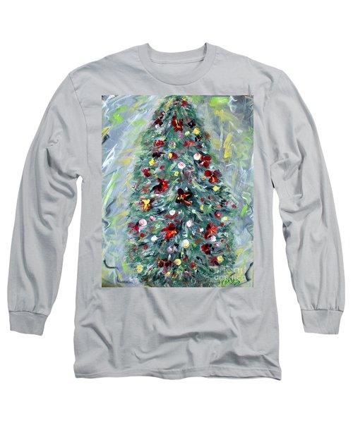 Christmas Tree. Green Long Sleeve T-Shirt