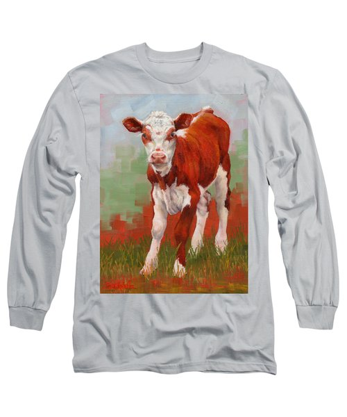 Colorful Calf Long Sleeve T-Shirt
