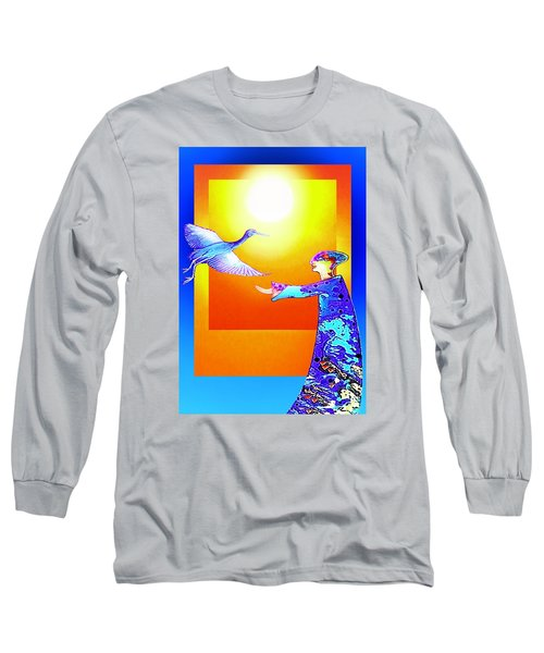 Colorful Friends Long Sleeve T-Shirt by Hartmut Jager
