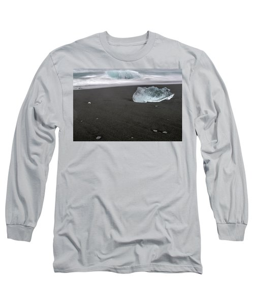Diamonds Floating In Beaches, Iceland Long Sleeve T-Shirt