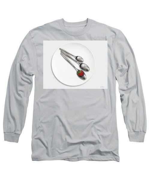Dish, Spoons And Strawberry Long Sleeve T-Shirt