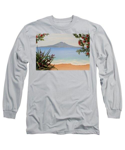 Dreaming Of Rangitoto Long Sleeve T-Shirt