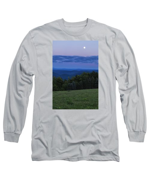 Long Sleeve T-Shirt featuring the photograph East Dover Full Moon by Tom Singleton
