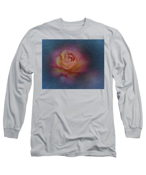 Long Sleeve T-Shirt featuring the photograph End Of September 2016 Rose by Richard Cummings