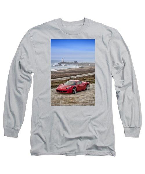 Long Sleeve T-Shirt featuring the photograph Ferrari 458 Italia by ItzKirb Photography