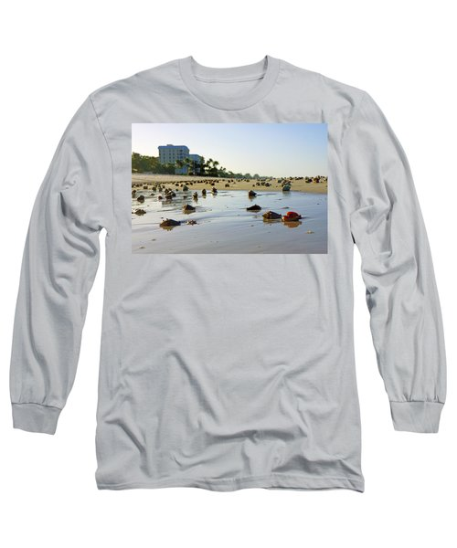 Fighting Conchs On The Beach In Naples, Fl Long Sleeve T-Shirt