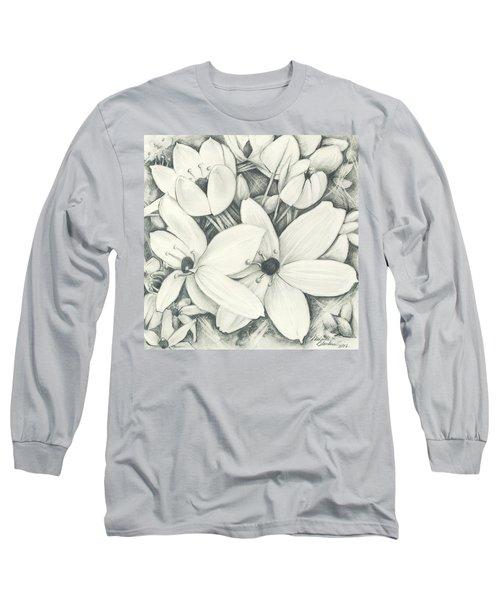 Flowers Pencil Long Sleeve T-Shirt
