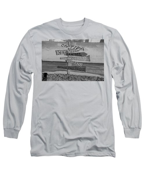 Fort Myers Beach Mural Long Sleeve T-Shirt by Michiale Schneider