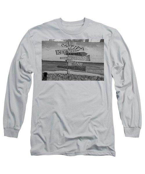Fort Myers Beach Mural Long Sleeve T-Shirt