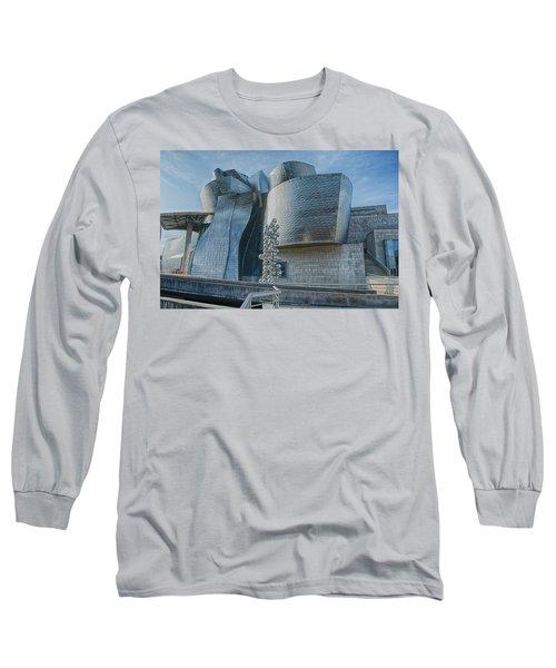 Guggenheim Museum Bilbao Spain Long Sleeve T-Shirt by James Hammond
