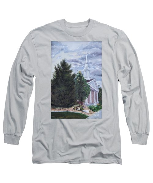 Long Sleeve T-Shirt featuring the painting Hale Street Chapel by Jane Autry