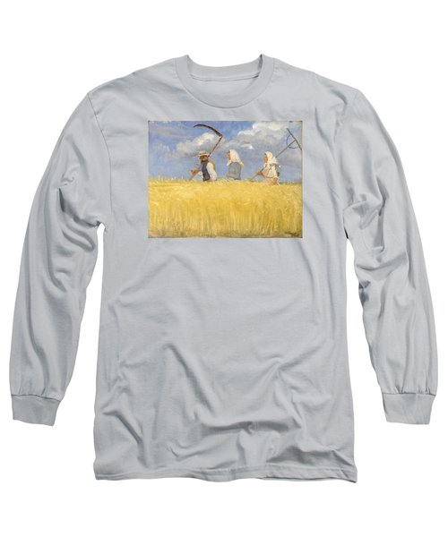 Harvesters Long Sleeve T-Shirt by Anna Ancher