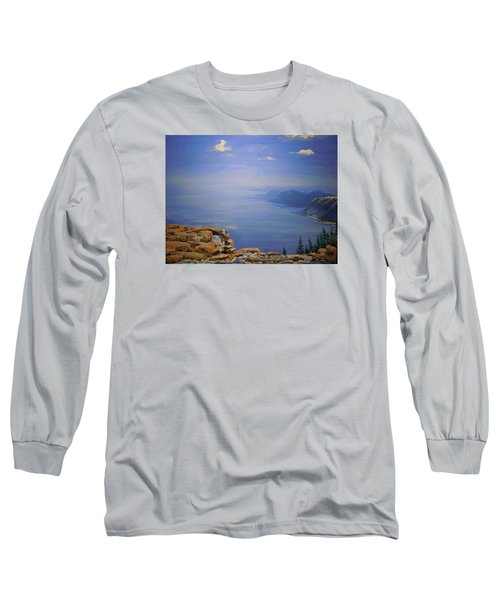 Long Sleeve T-Shirt featuring the painting High Above by Dan Whittemore