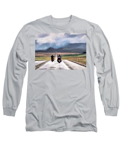 Long Sleeve T-Shirt featuring the photograph Highway In The Wind by Jim Hill